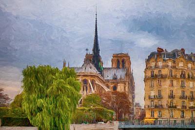 Digital Art - Impression, Paris by Mick Burkey
