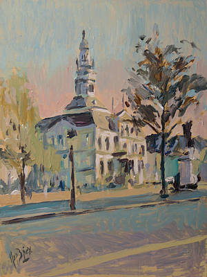 Painting - Impression Soleil Maastricht by Nop Briex