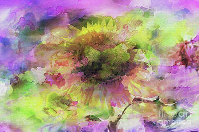 Impression Sunflower Art Print