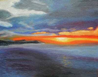 Painting - Impression Sunrise Honolulu by Thu Nguyen