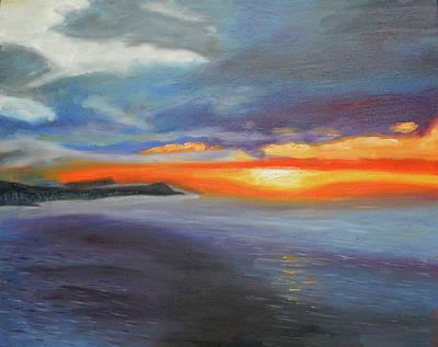 Painting - Impression Sunrise Honolulu by Thu Nguyen