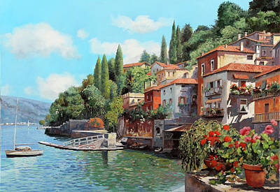 Lake Como Painting - Impressioni Del Lago by Guido Borelli