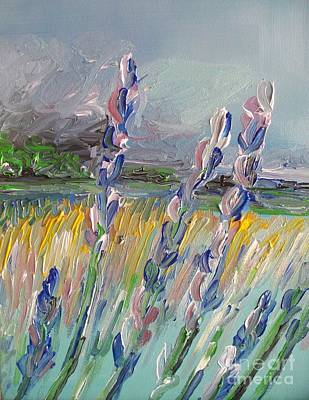 Drawing - Impressionism Fantasy Field by Eric  Schiabor