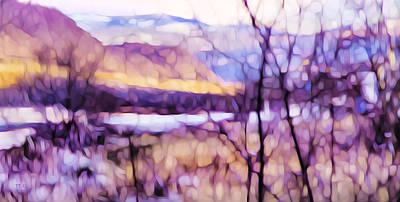 Impressionist Along The River Art Print