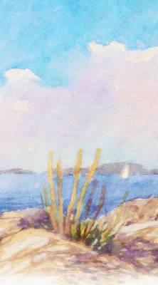 Painting - Impressionist Coast by Lutz Baar