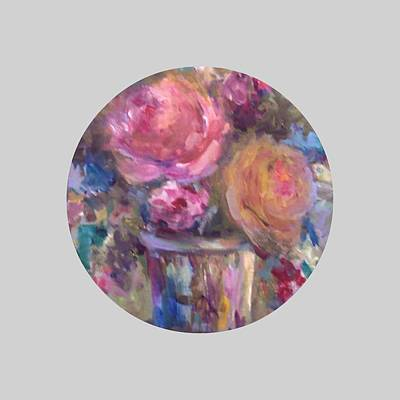Rose Mary Walls Painting - Impressionist Floral Art by Mary Wolf