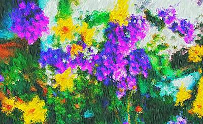 Photograph - Impressionist Floral by Liz Evensen