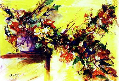 Impressionist Flowers #112, Art Print by Donald k Hall