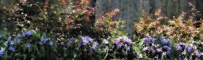 Photograph - Impressionist Garden Pano by Ellen Barron O'Reilly