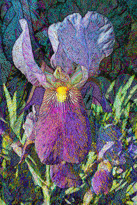 Stamen Mixed Media - Impressionist Iris by Michele Avanti