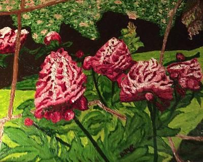 Impressionist Peony Garden Art Print by Anne Marjorie Erickson