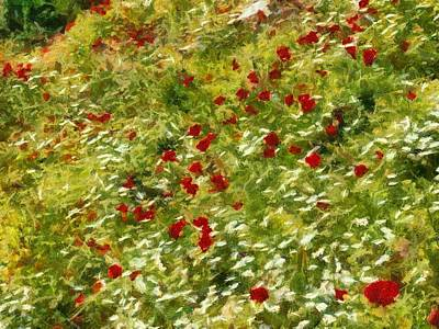 Painting - Impressionist Poppies by Tracey Harrington-Simpson