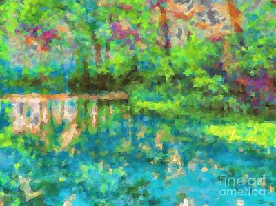 Photograph - Impressionist Reflection by Shirley Moravec