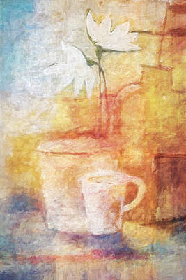 Painting - Impressionist Still Life by Lutz Baar