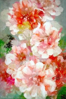 Photograph - Impressionist Style Dahlias by Patricia Strand