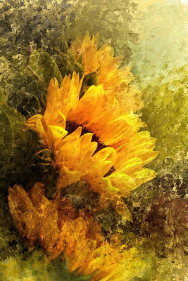 Photograph - Impressionist Sunflowers by Jai Johnson