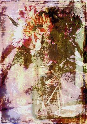 Digital Art - Impressionistic Floral by Janet Duffey
