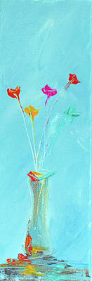Painting - Impressionistic Flowers 3 by Ken Figurski