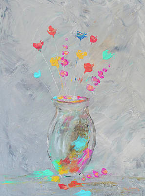 Painting - Impressionistic Flowers 6 by Ken Figurski