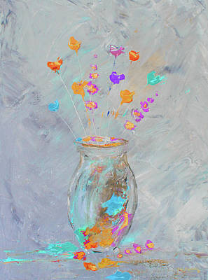 Painting - Impressionistic Flowers 7 by Ken Figurski