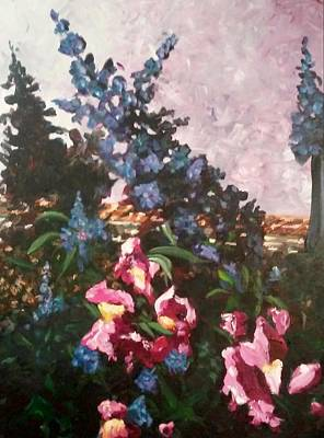 Painting - Impressionistic Flowers by Ray Khalife