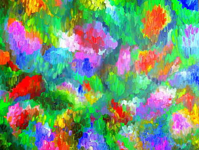 Painting - Impressionistic Garden by Beth Akerman