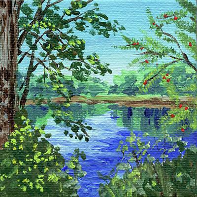 Jolly Old Saint Nick - Impressionistic Landscape XIV by Irina Sztukowski