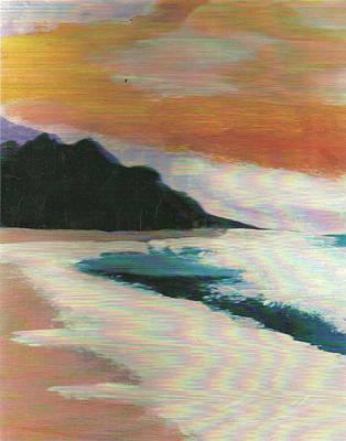 Malibu Mixed Media - Impressionistic Malibu by Anne-Elizabeth Whiteway