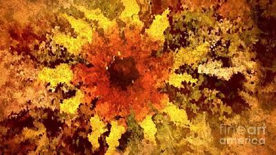 Digital Art - Impressionistic Petals by Theresa Willingham