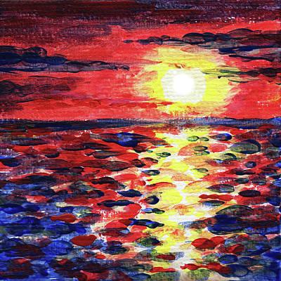 Painting - Impressionistic Sunset by Irina Sztukowski