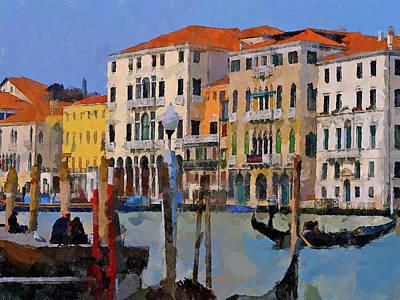 Digital Art - Impressionistic Venice by Yury Malkov