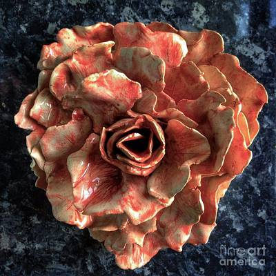 Sculpture - Impressionists Rose 2 by Joan-Violet Stretch