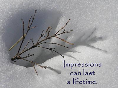 Photograph - Impressions Can Last A Lifetime by DeeLon Merritt