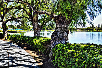 Digital Art - Impressions From A Park - Three by Glenn McCarthy Art and Photography