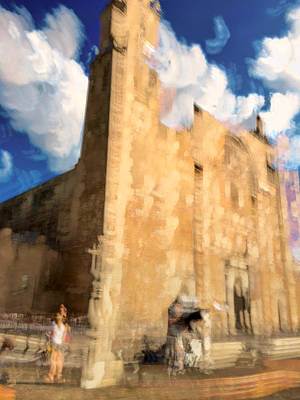 Merida Photograph - Impressions Of A Cathederal Merida by Marc Kundmann