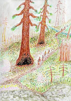 Mixed Media - Impressions Of A Hike In Redwood Canyon by Jim Taylor