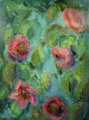 Painting - Impressions Of A Summer Garden by Mary Wolf