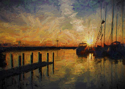 Photograph - Impressions Of A Sunset by Ron Grafe