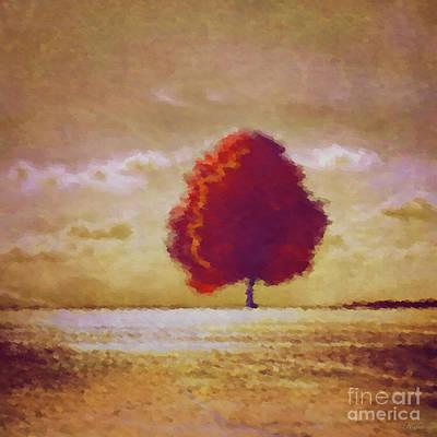 Impressions Of Autumn Art Print by KaFra Art