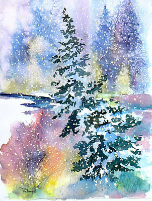Painting - Impressions Of Christmas by Jerry Kelley