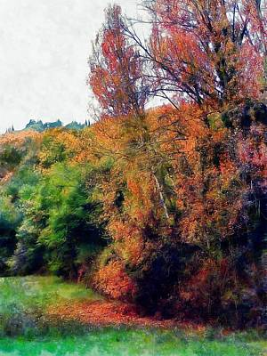 Photograph - Impressions Of Fall In Tuscany by Dorothy Berry-Lound