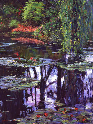 Impressions Of Giverny Art Print by David Lloyd Glover