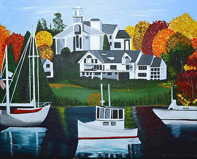 Painting - Impressions Of New England Two by Donna Blossom