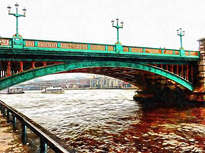 Photograph - Impressions Of Southwark Bridge by Dorothy Berry-Lound