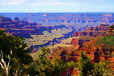 Digital Art - Impressions Of The North Rim by Shelli Fitzpatrick