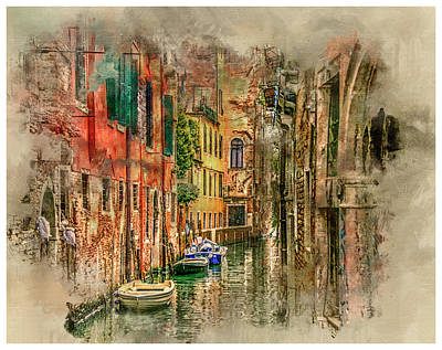 Digital Art - Impressions Of Venice by Brian Tarr