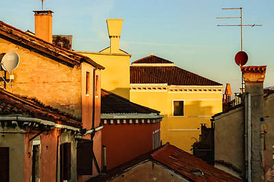 Impressions Of Venice - Choose A Hotel With A Roof Terrace  Art Print