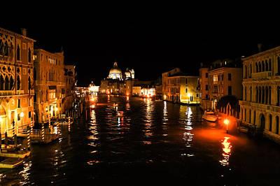 Digital Art - Impressions Of Venice - Grand Canal Gold by Georgia Mizuleva