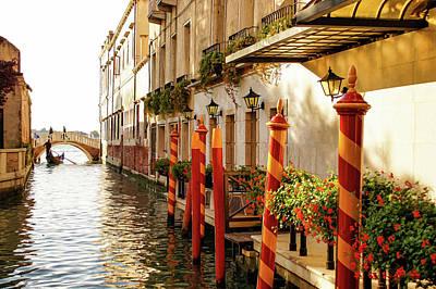 Impressions Of Venice - Signature Candy Stripped Palina Art Print by Georgia Mizuleva
