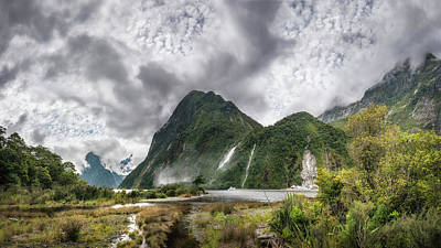 Photograph - Impressive Weather Conditions At Milford Sound by Daniela Constantinescu
